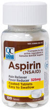 Quality Choice Aspirin 325 mg 100 ct